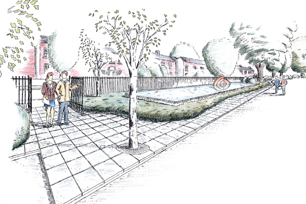Water Feature Design For A Public Garden In Wicklow