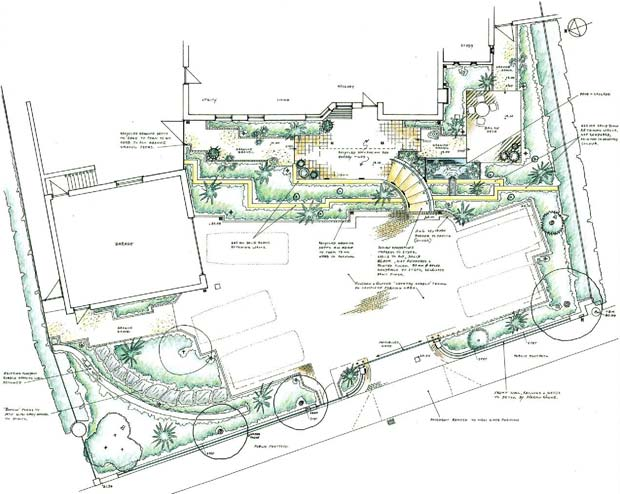 dublin garden design plan large coastal garden - Garden Design Drawing