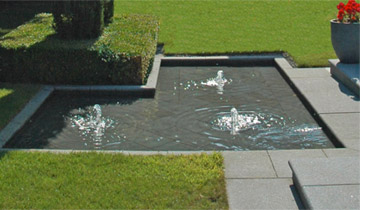 Wicklow water feature design by Dublin garden designer Peter O'Brien